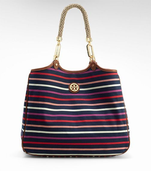 striped CHANNING TOTE