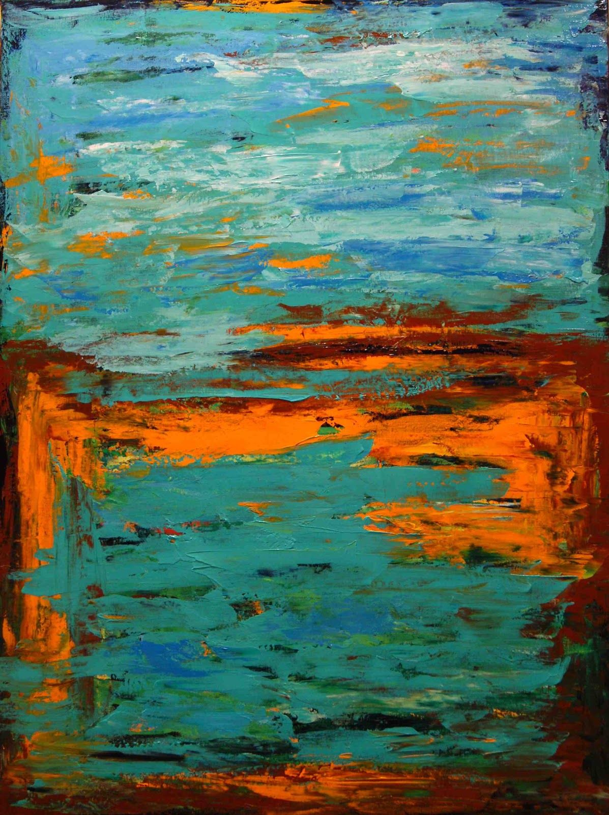 Paintings by theresa paden textured abstract palette for Palette knife painting acrylic