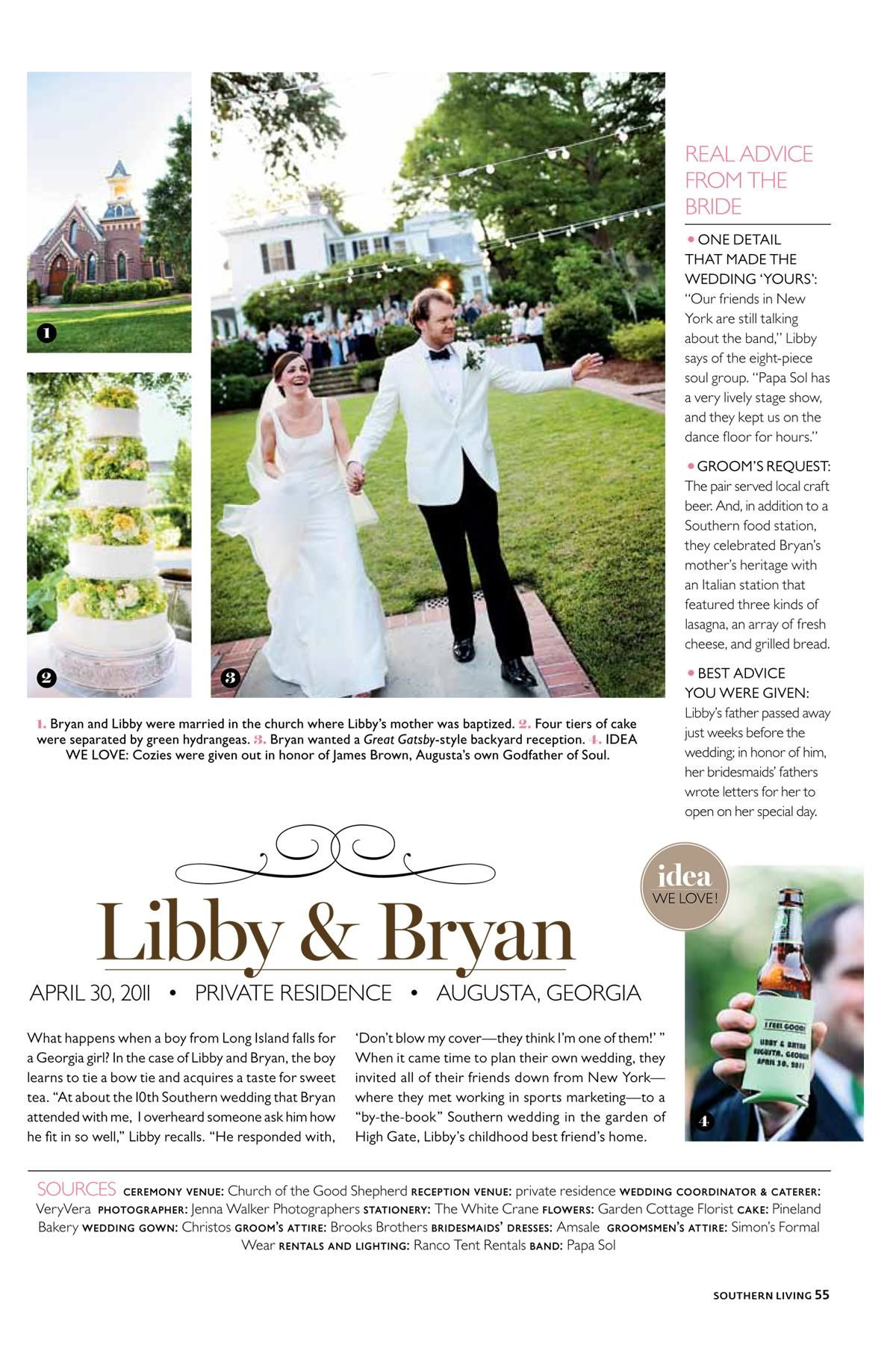 My Cousin And Her Hubby Featured In The Spring 2012 Issue Of Southern Living Weddings Mallory Was The Flower Girl Wedding Stage Show Flower Girl
