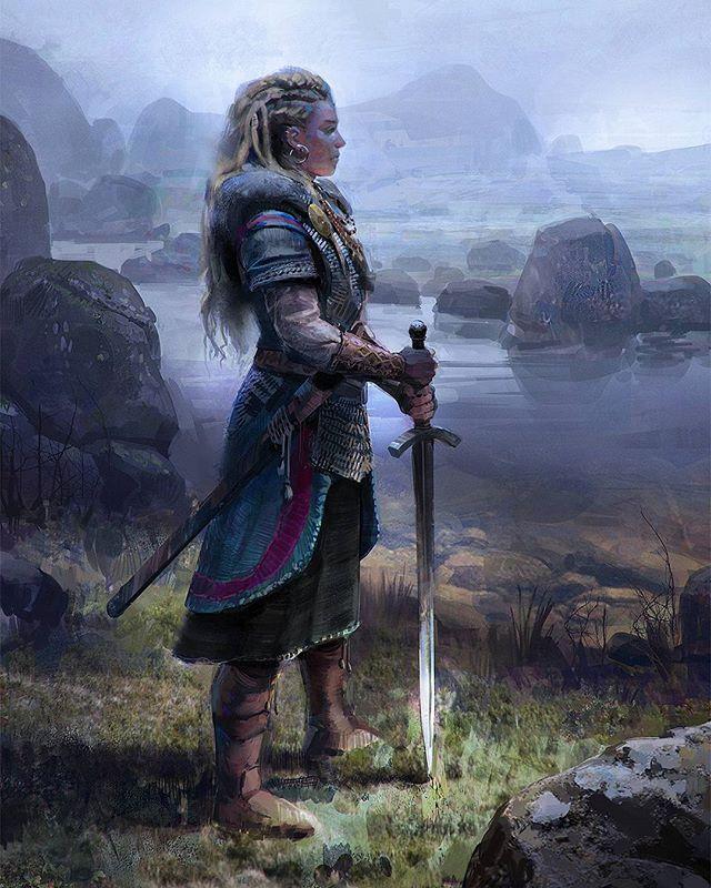 Title: Viking Woman Artist: John Wallin Liberto | Viking ... Viking Woman Art