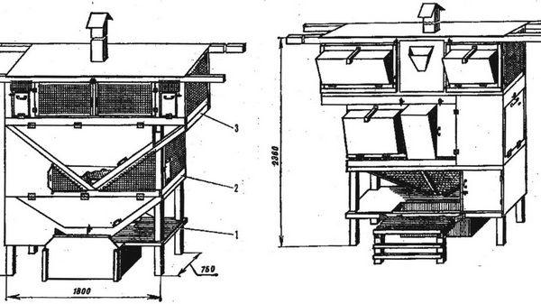Клетка для кроликов михайлова своими руками чертеж 52