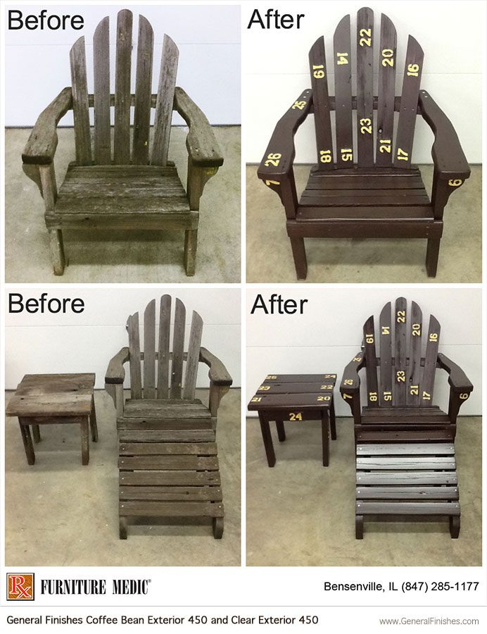Check Out This Before And After Shot Of An Adirondack Chair Restoration By  @furniture Medic