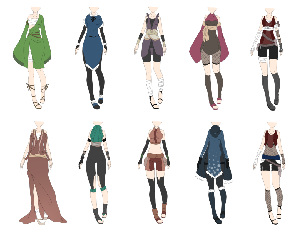 Naruto Outfit Adoptables 8 [CLOSED] by xNoakix3.deviantart.com on @deviantART