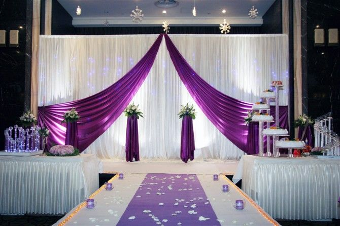 Supplies Party Quality Wedding Directly From China White Purple Backdrop Curtain T Stage Drape Decoration