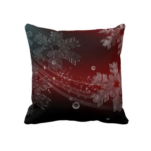 Crystal Snowflakes Pillow