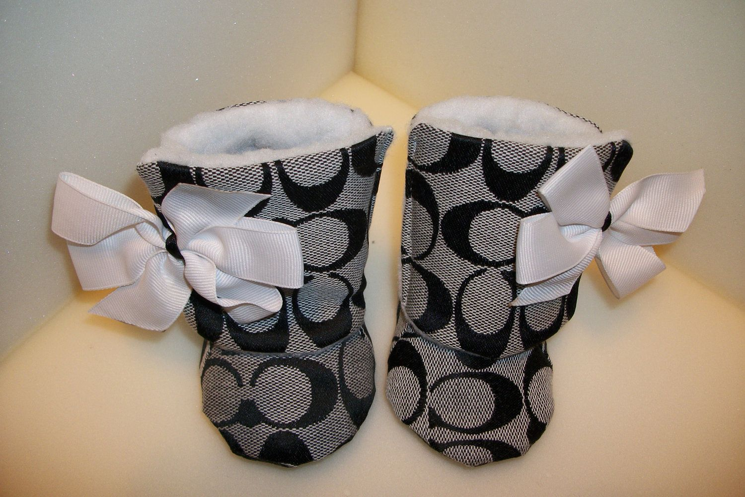 Inspired Toddler Baby Boots with Faux