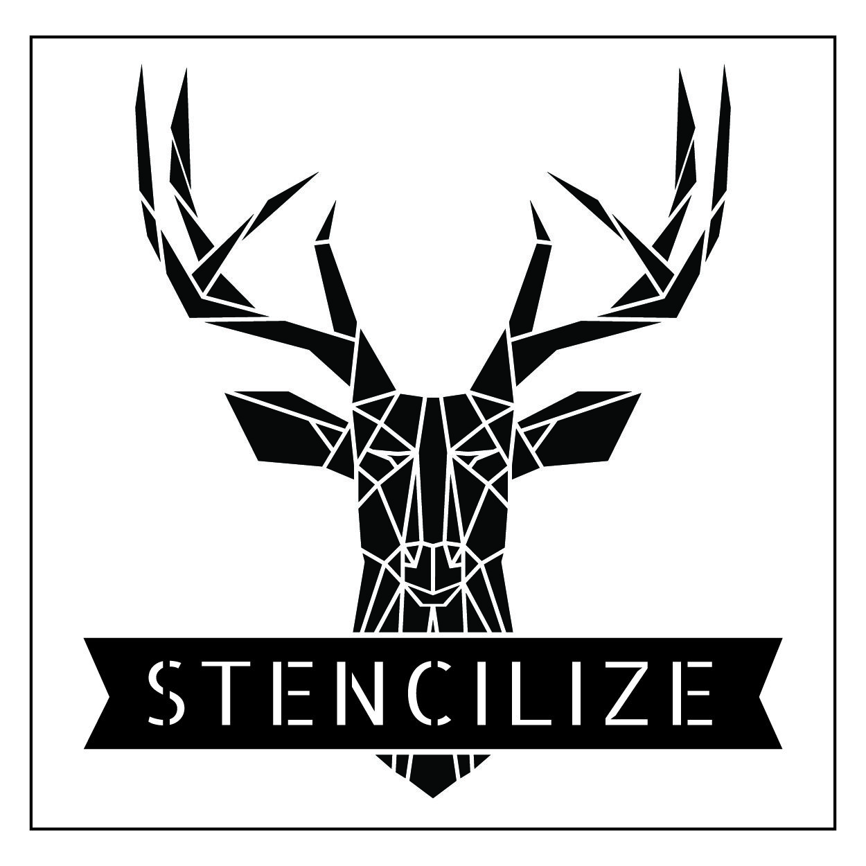 Stencilize stag logo branding geometric stag logo design cool deer logo t