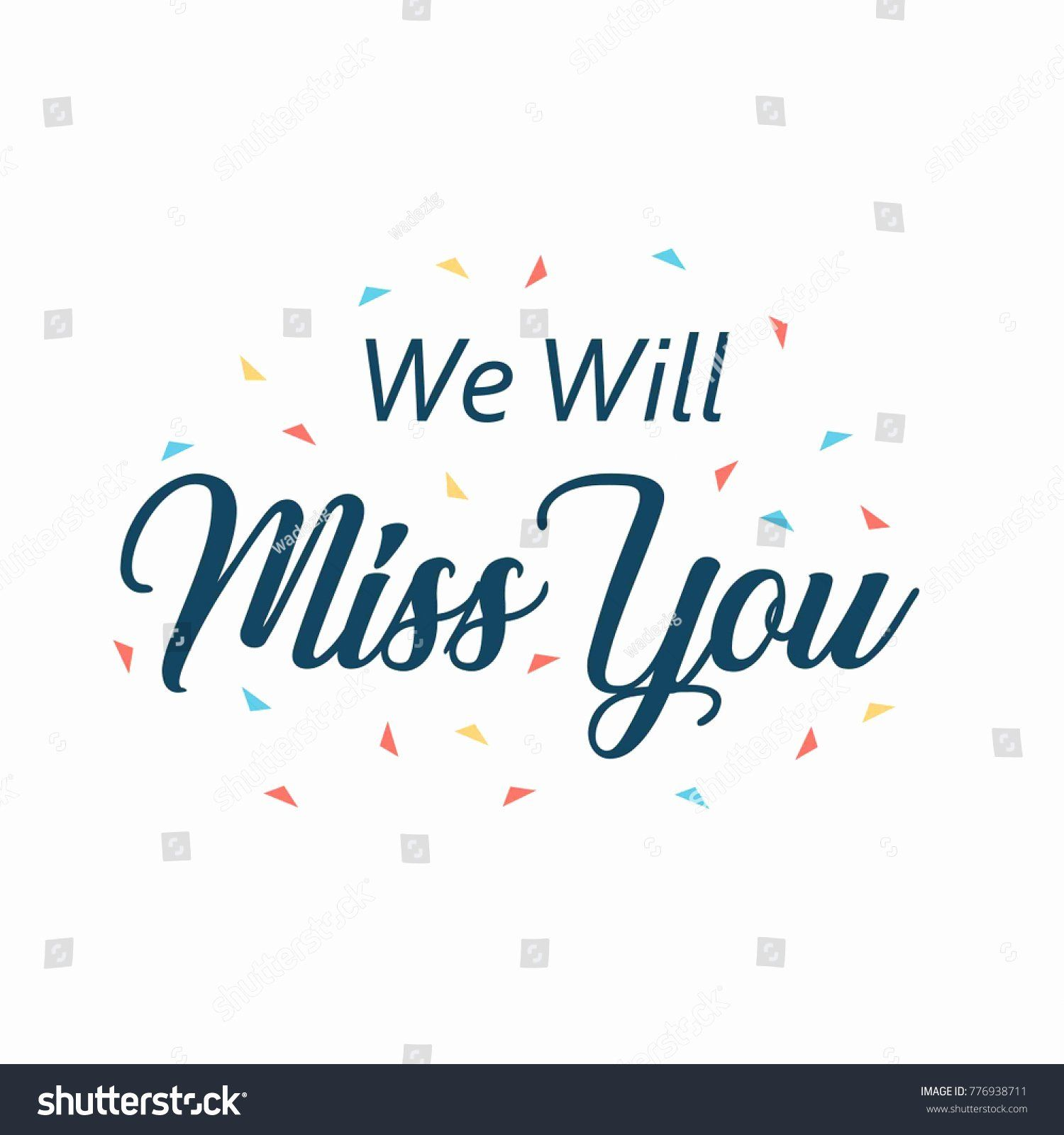 Miss You Greetings Elegant Will Miss You Card Quotes Of The Day Farewell Cards Miss You Cards Recipe Cards Template