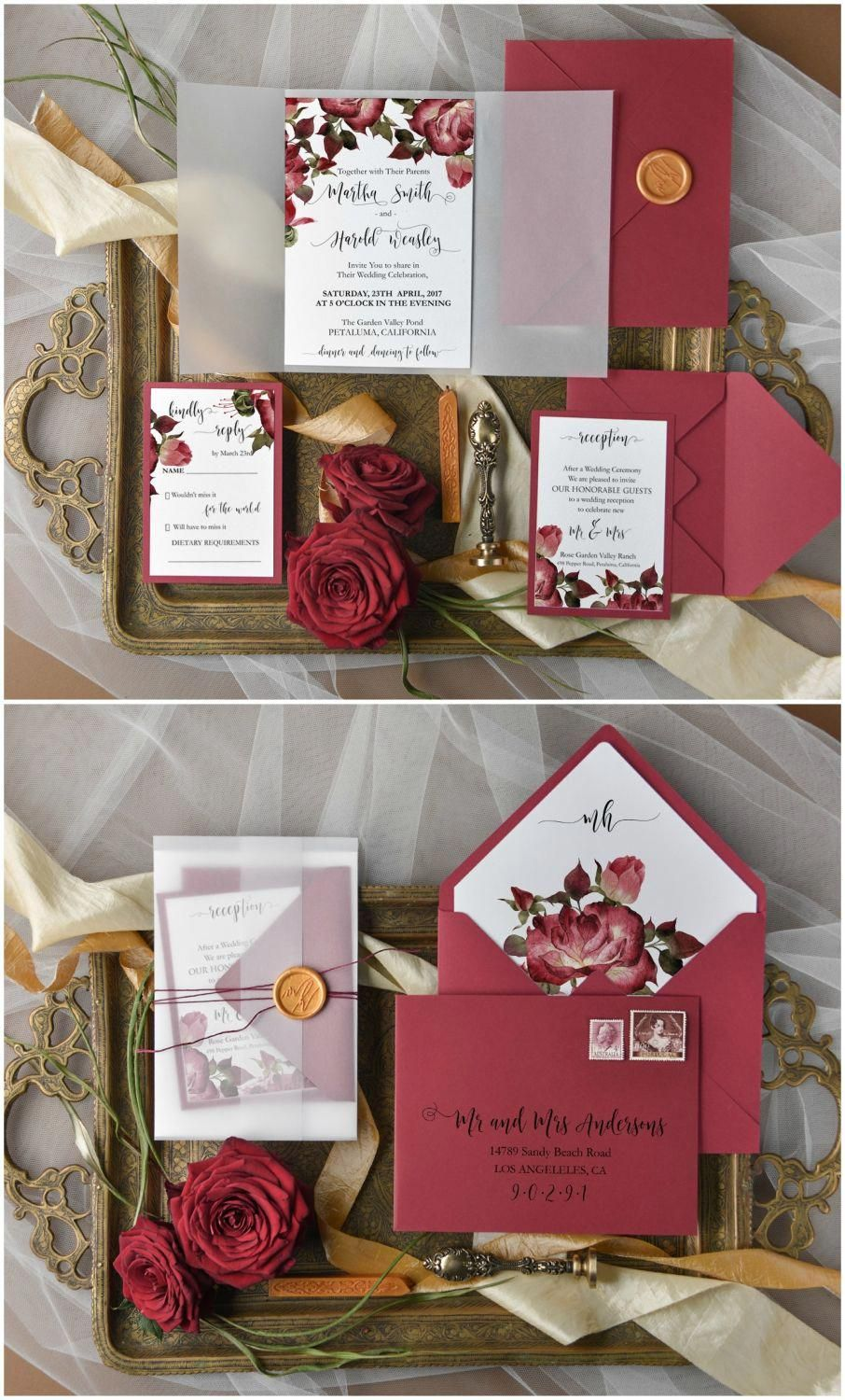 There Are Thousands Of Ready Made Wedding Invitations To Pick From Merely Choose With Images Wedding Invitation Styles Floral Wedding Invitations Wedding Invitation Cards