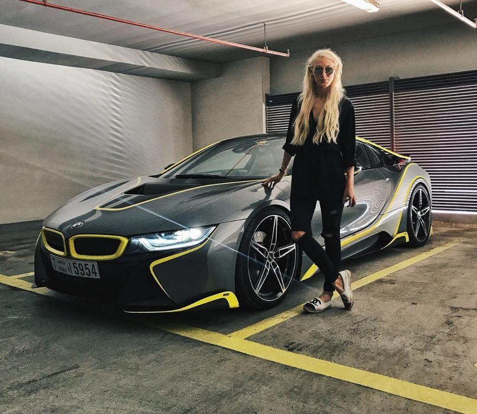 Supercar Blondie The Female Supercar Driver Whose Instagram Account Is Rocking Dubai Super Cars Bmw Girl Car Girls