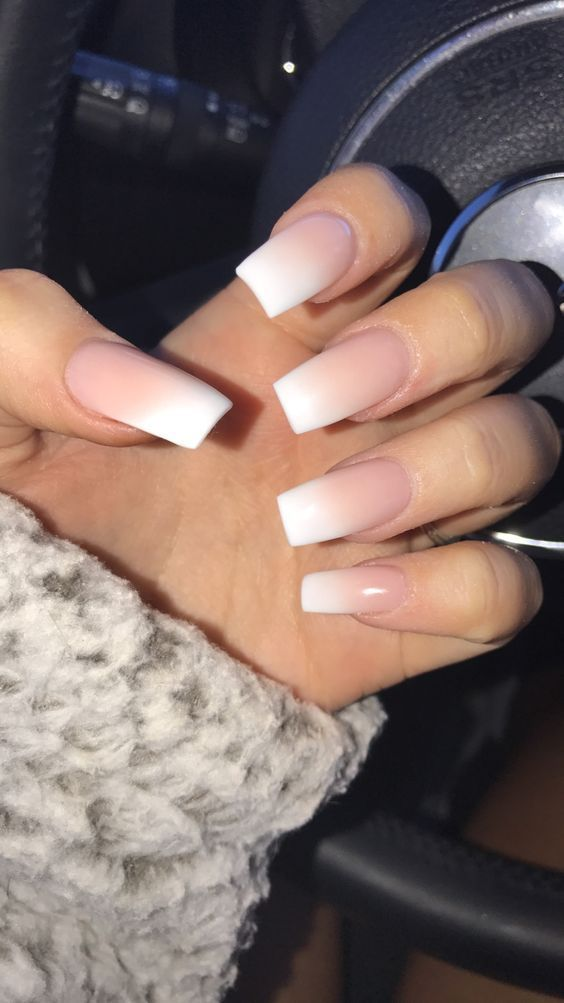 ᴘɪɴᴛᴇʀᴇsᴛ Deblauwezoe Ombre French Nails Faded Manicure Wedding Acrylic