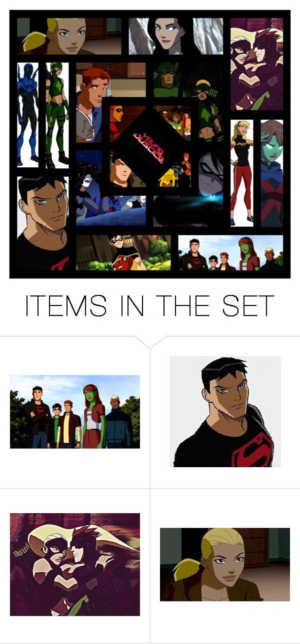 """""""Young Justice"""" by bluetidegirl ❤ liked on Polyvore featuring art"""