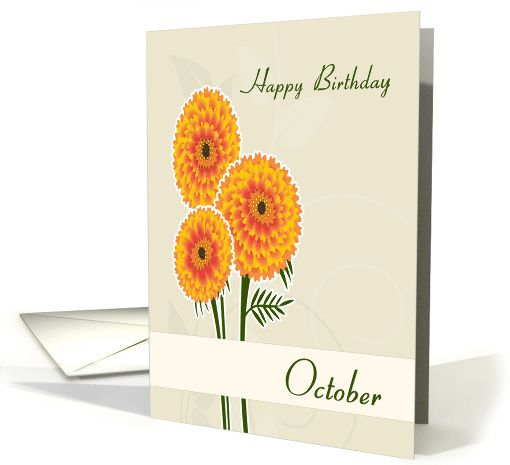 Marigold october birth flower for birthday card greetingcarduniverse marigold october birth flower for birthday card greetingcarduniversejjbdesigns greetingcard greetingcarduniverse m4hsunfo