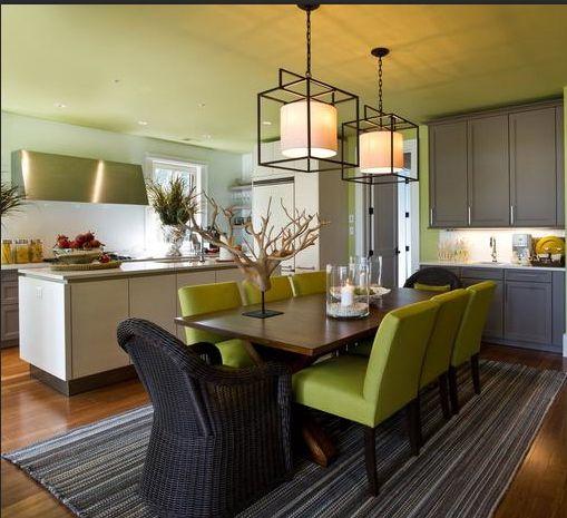 Grey Cabinets HGTV Design Home Dining Room