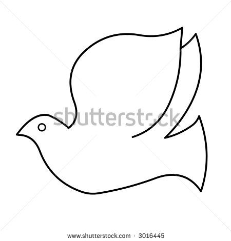 How To Draw A Dove Easy Black And White Dove Line Drawing Stock