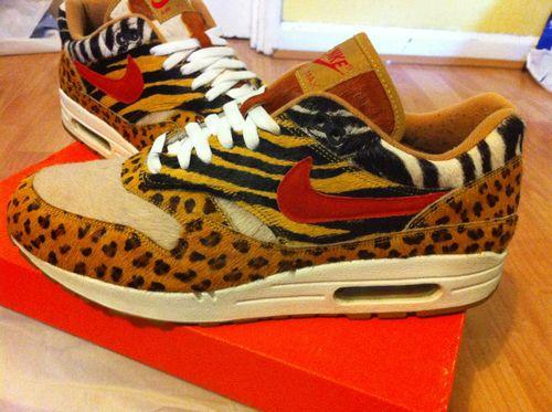 19e7778b2813a3 Nike Air Max 1 Supreme Animal Safari Beast Atmos 87 90 9 10 Patta Rare