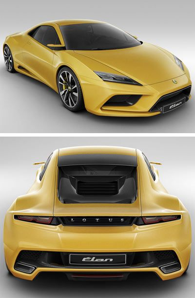♂ The Lotus Elan concept which the company unveiled at the 2010 ...