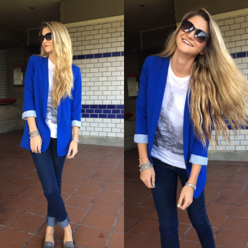 Combinar Blazer Azul Rey - Buscar Con Google | .dress | Pinterest | Blazers Blue Blazers And ...