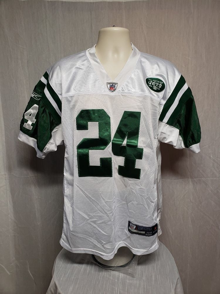detailed look 094e2 10fce New York Jets Darrelle Revis 24 Adult White Size 46 Stitched ...