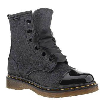 df59f45ec96e Women s Black Dr Martens Grace 8 Big Eye Glitter Ankle Boots