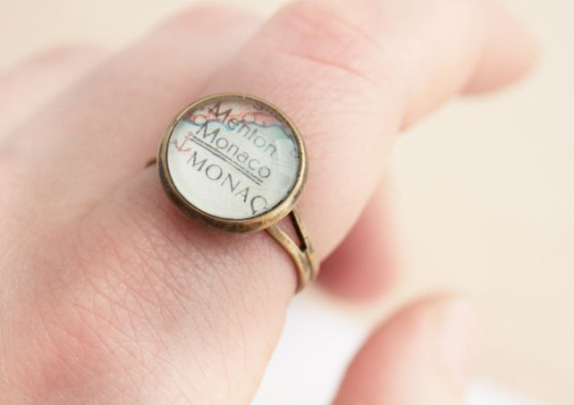 Map Ring Customized Jewellery Vintage World Map Ring £8.00