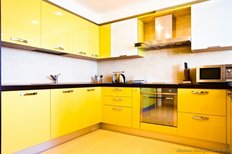 Modern Yellow Kitchen Cabinets 07 Kitchen Design Ideas Org Home