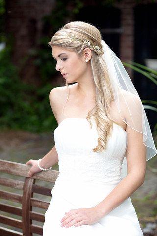 Brautschmuck haare mit schleier  Nicht nur für Romantikerinnen: Die schönsten Brautfrisuren mit ...