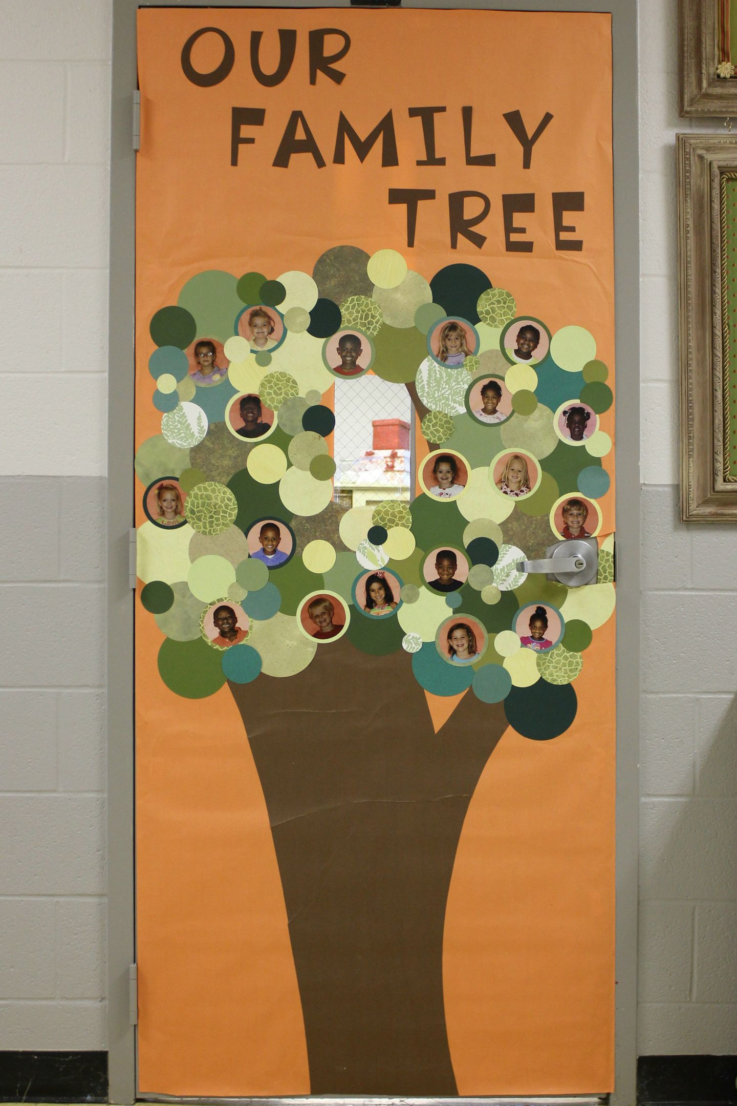 family tree bulletin board ideas for preschool our family tree classroom door cover enhe 615
