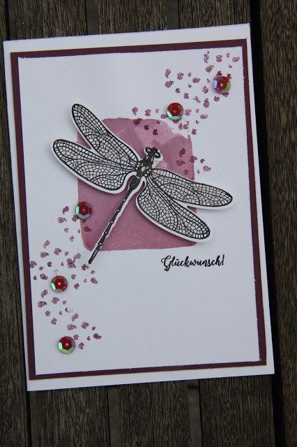 Geburtstagskarten  mit Libelle / Birthday Cards wi