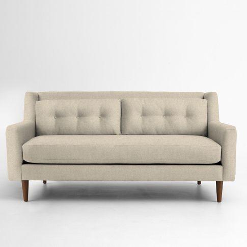 Crosby Mid Century Sofa 80 Mid Century Sofa Contemporary Sofa Love Seat