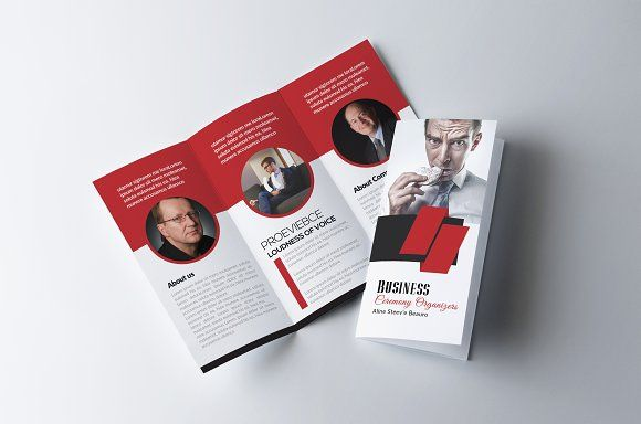Tri Fold Brochure Template by Business Flyers on @creativemarket - brochures templates word