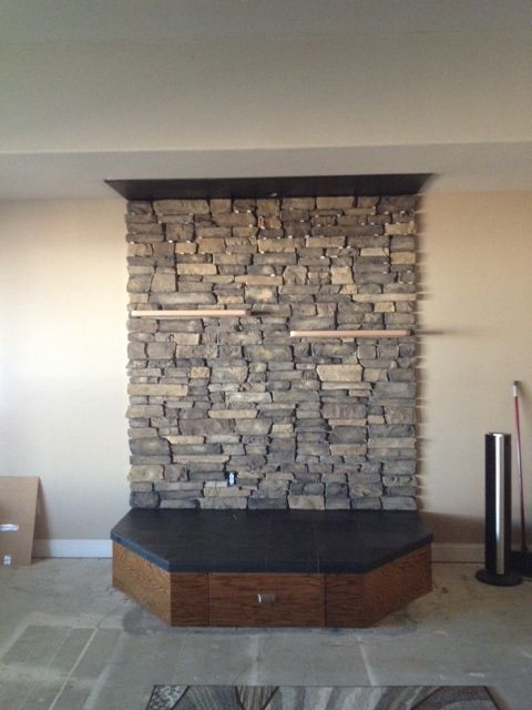 My Current Project Is A Pellet Stove Hearth The Pellet Stove Will Be Delivered In A Couple Of Days I W Pellet Stove Hearth Pellet Stove Wood Stove Surround