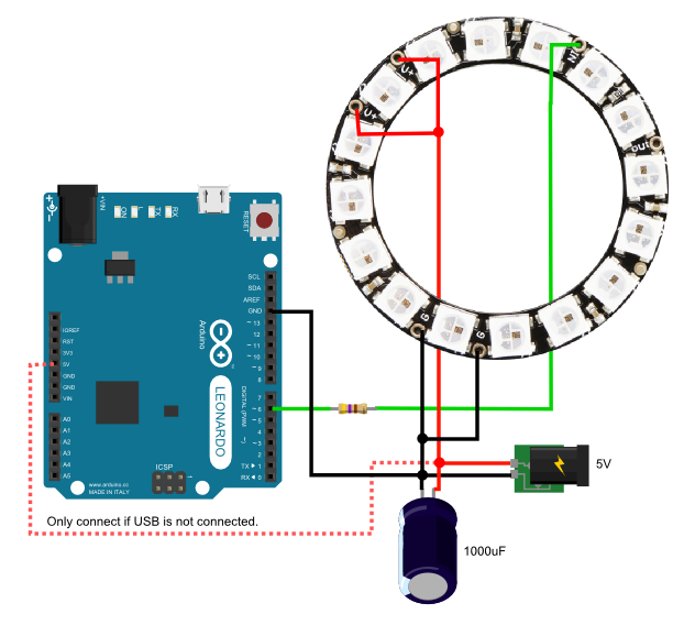 5050 WS2812B RGB LED Ring Built-in Integrated Drivers Addressable Black Panel~