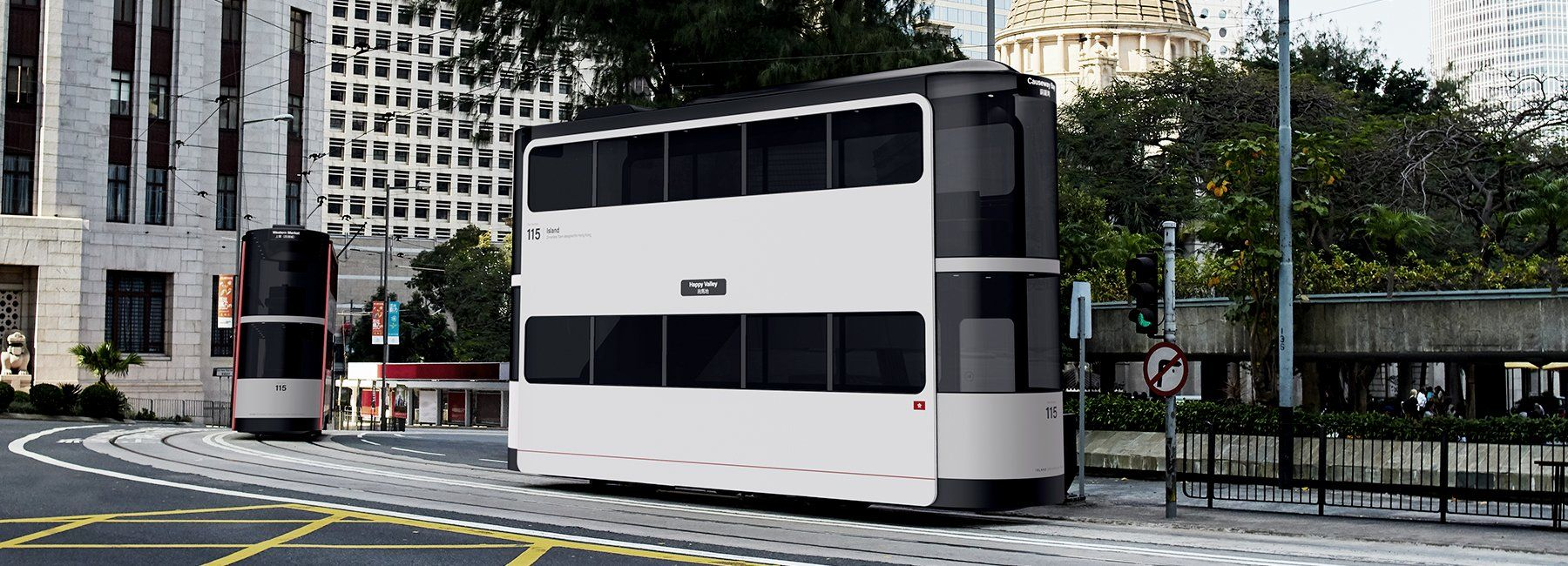 'island' is a driverless socialdistancing tram designed