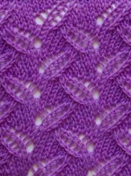 Little Leaves Free Lace Knitting Stitch More Great Patterns Like