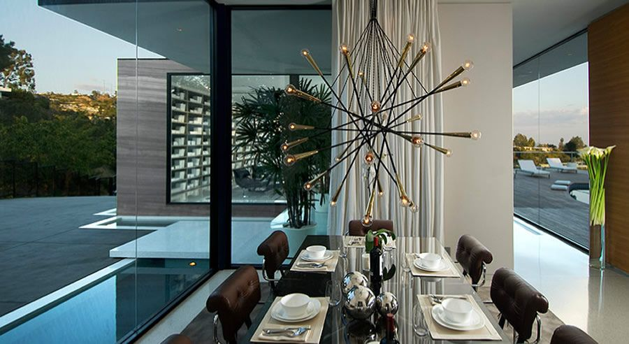 love this light fixture modern luxury dining room