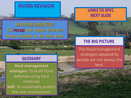 AQA AS Level Unit 1 Rivers Revision Powerpoint   Secondary
