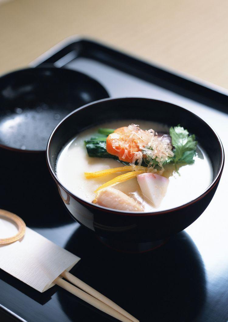 White Miso Ozoni Mochi Soup for Japanese New Year Recipe