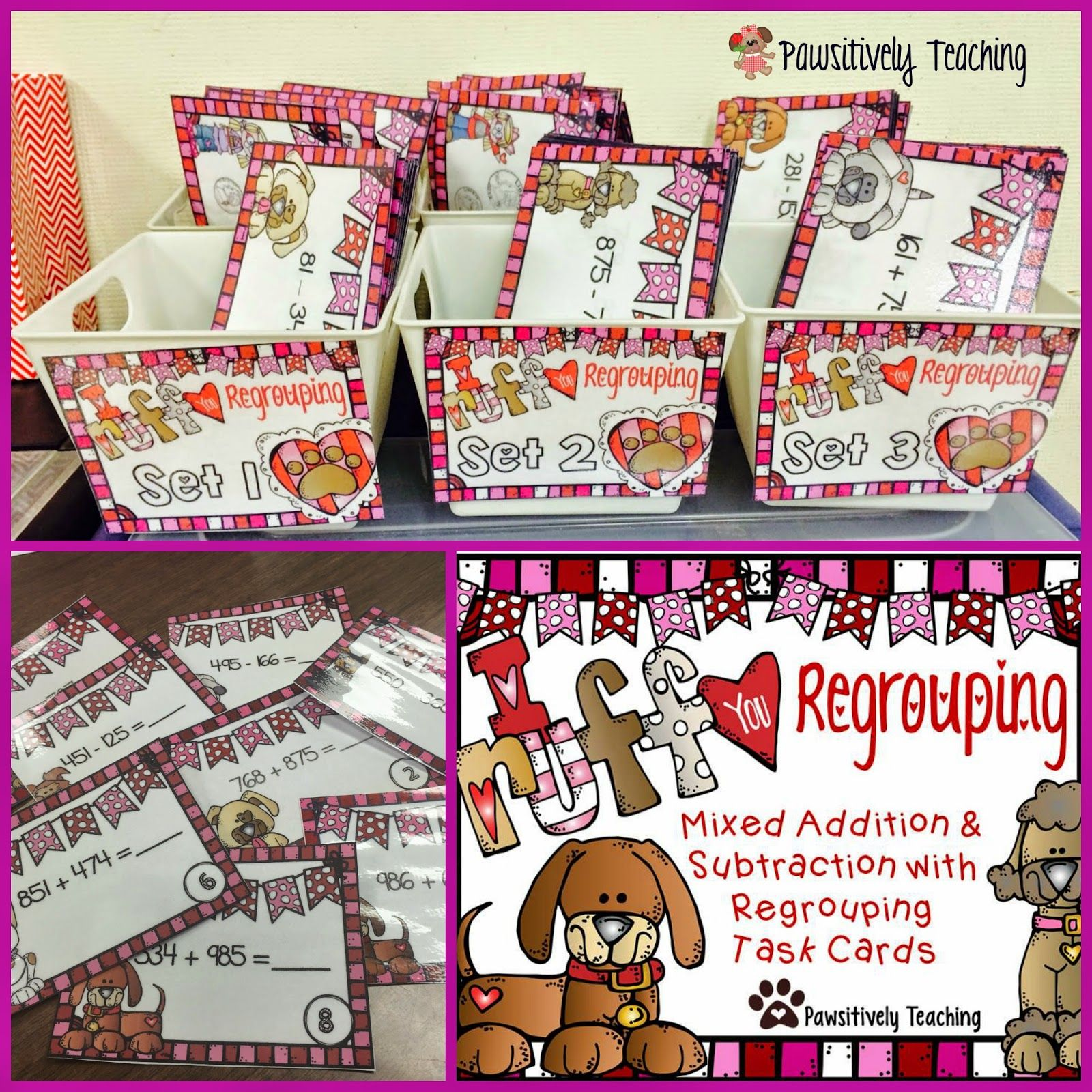 Mixed Addition Amp Subtraction With Regrouping Task Cards