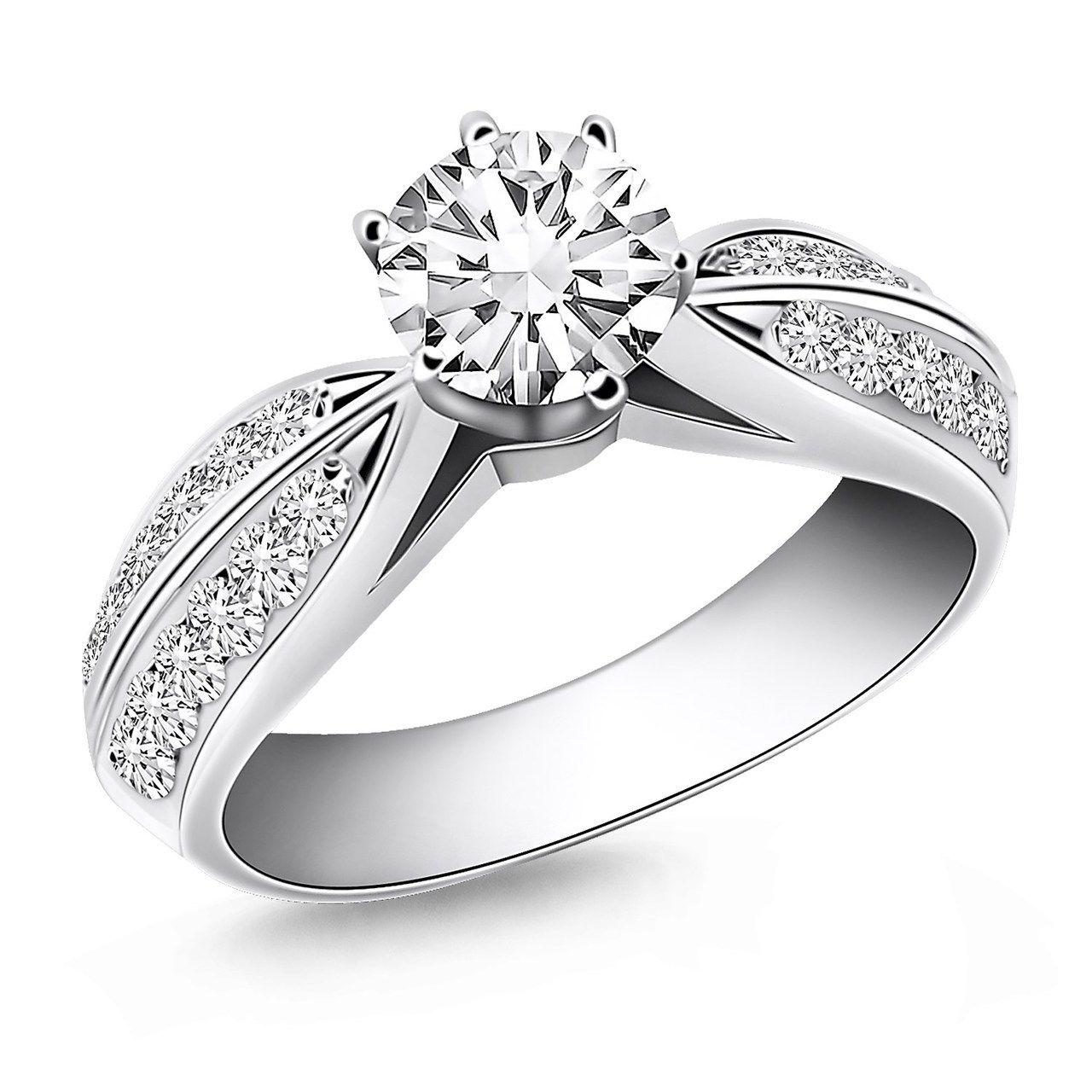 Cathedral Diamond Engagement Rings At Jjs Jewelry Box Black Friday 20