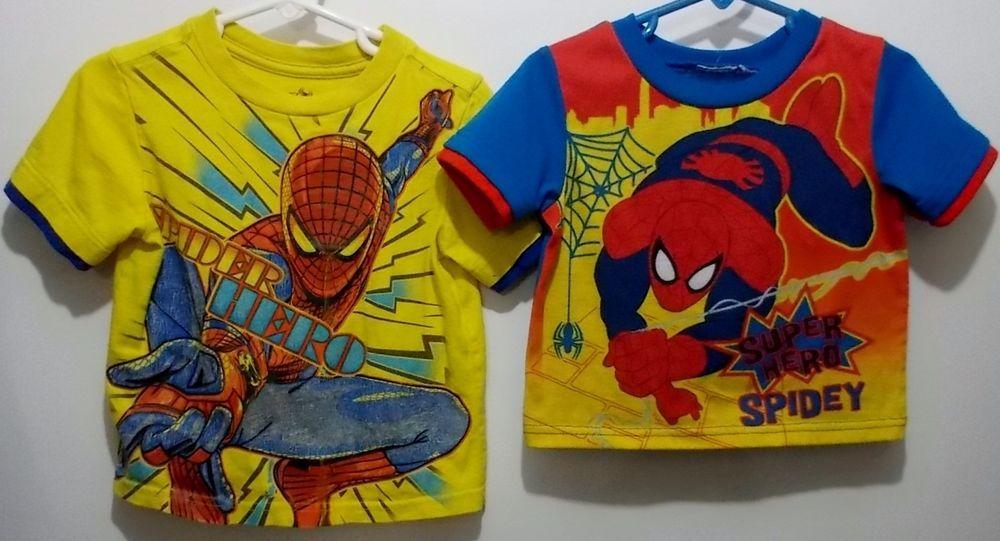 Marvel Spiderman Toddler Little Boys Size 2T & Smaller Short Sleeve T-Shirts #Marvel #Everyday