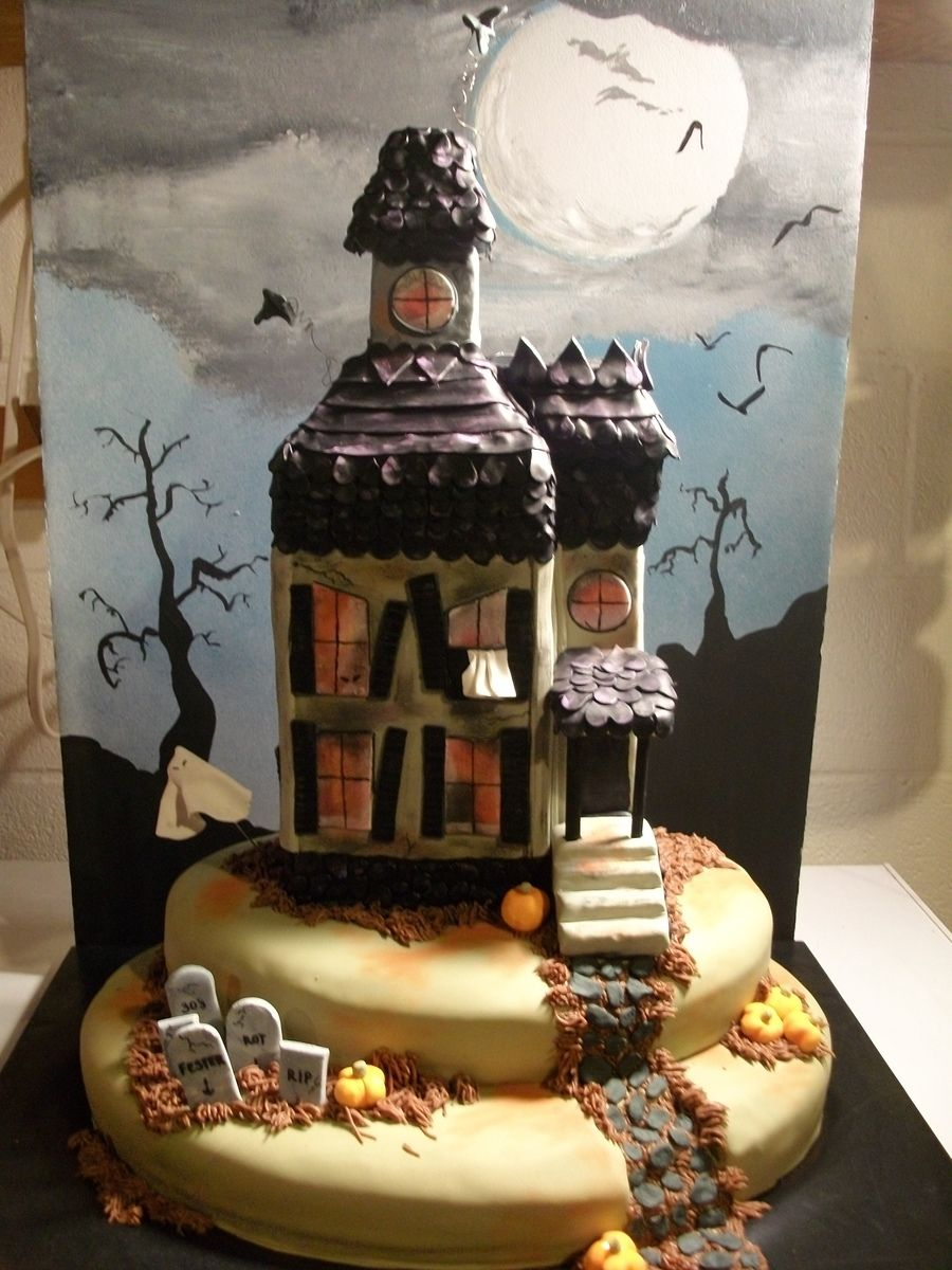 haunted house Torty / Beautiful cake Pinterest Haunted houses - Halloween Cake Decorating Ideas