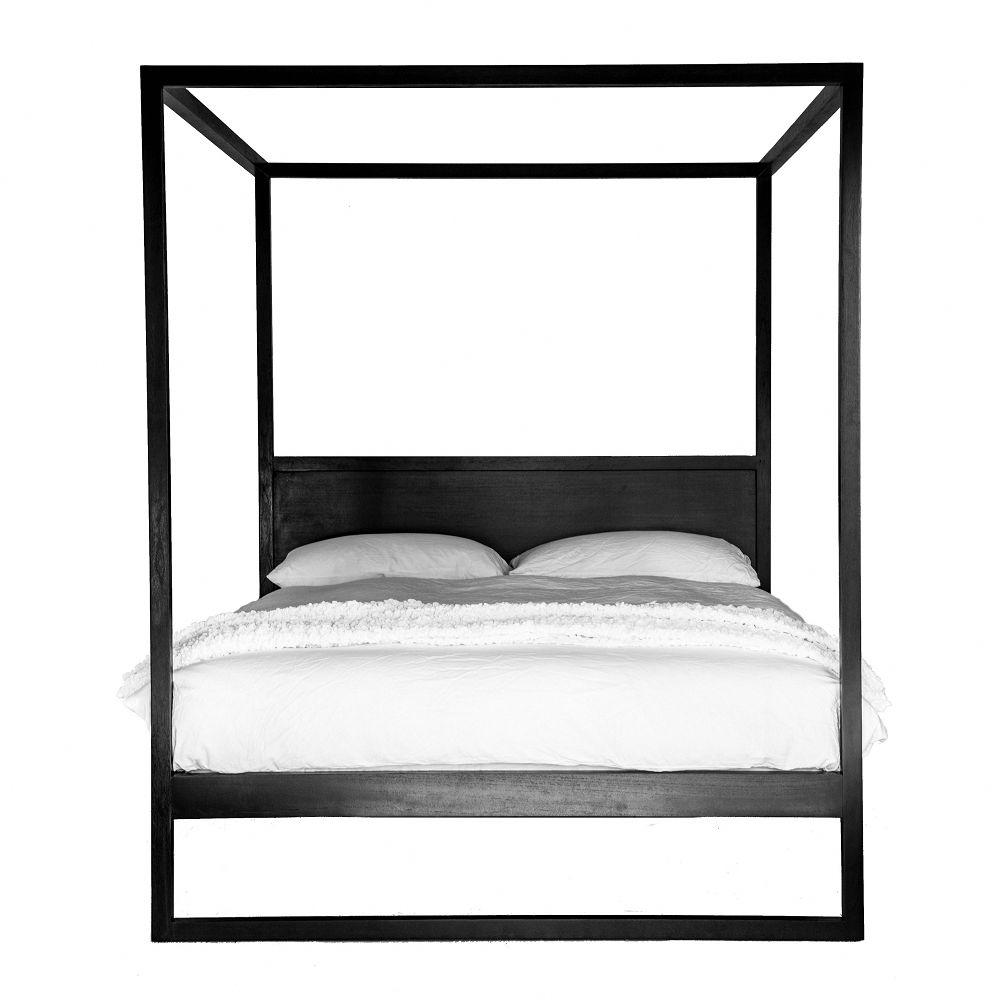 Strand Poster Bed Black Oak in 2020 Black bedding