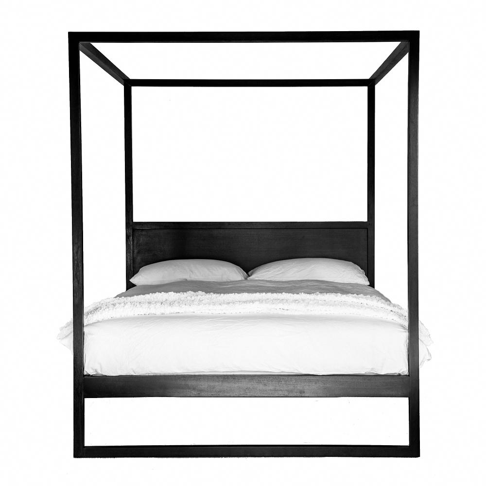 Strand Poster Bed Black Oak Black Bedding Poster Bed Four
