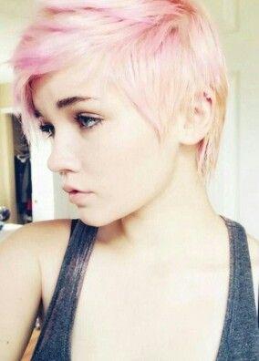 Baby pink short cut.