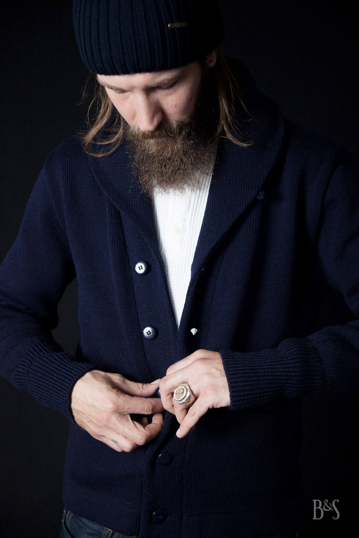 bd557890 North Sea Clothing Expedition Cardigan x Stetson Northport Beanie x Fine  Light Trading The Skull Ring - www.burgundschild.com