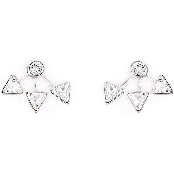 Ca&Lou Arrow Motif Earrings (3 985 ZAR) ❤ liked on Polyvore featuring jewelry, earrings, metallic, silver tone earrings, metallic jewelry, ca&lou and earrings jewelry