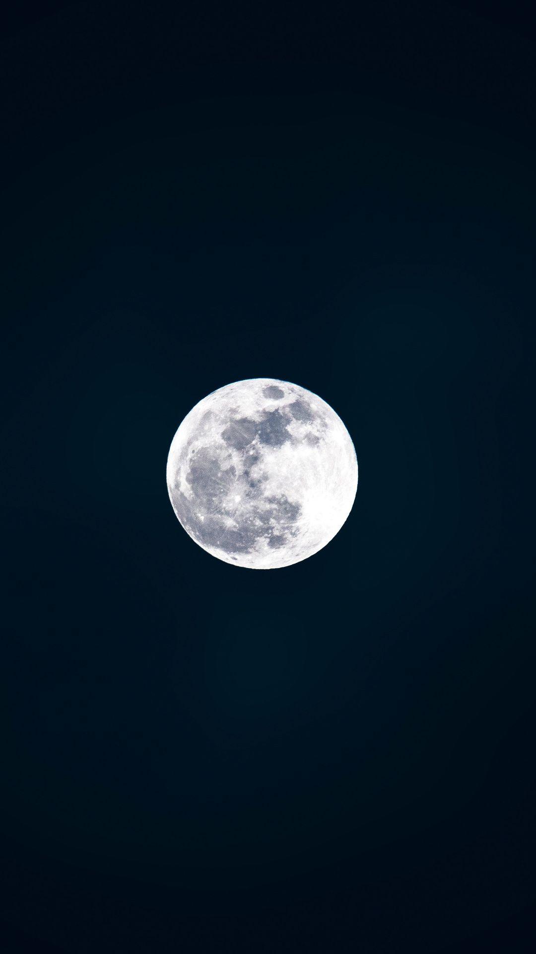 Full Moon 4k In 1080x1920 Resolution Fondo De Pantalla Pintura