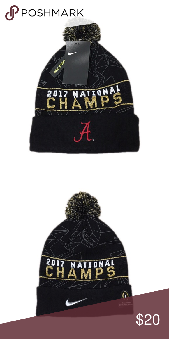 promo code 54521 03d1d ... 50% off alabama crimson tide nike champs beanie hat cap brand new with  tags officially