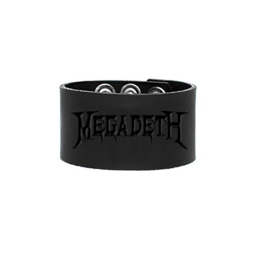 Megadeth Leather Wristband | Accesories jewelry, Wristband